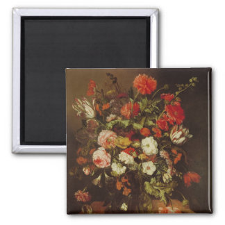 Still Life with Flowers Square Magnet