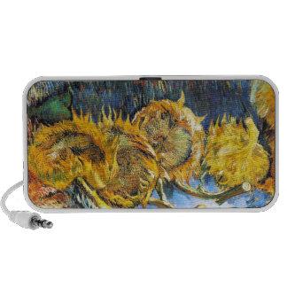 Still Life with Four Sunflowers Van Gogh Vincent Travel Speaker