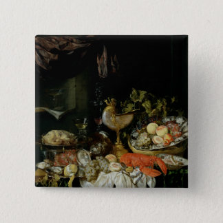 Still Life with Fruit 15 Cm Square Badge