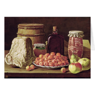 Still Life with Fruit and Cheese Card