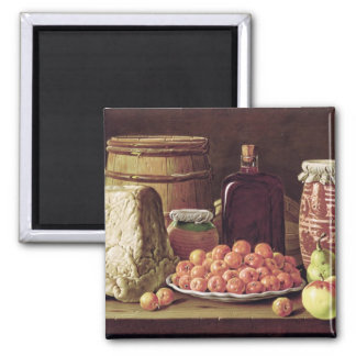 Still Life with Fruit and Cheese Magnet