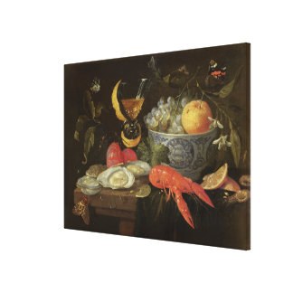 Still Life with Fruit and Shell Fish, 1653 (oil on Canvas Print