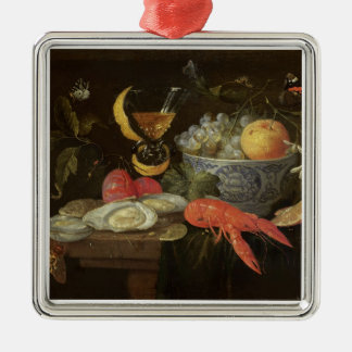 Still Life with Fruit and Shell Fish, 1653 (oil on Christmas Ornament