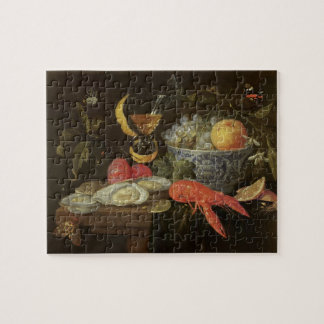 Still Life with Fruit and Shell Fish, 1653 (oil on Jigsaw Puzzle