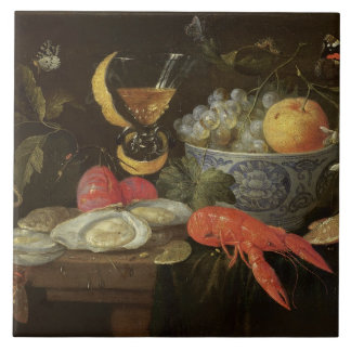 Still Life with Fruit and Shell Fish, 1653 (oil on Tile