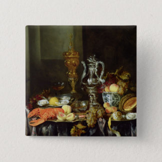 Still Life with Fruit and Shellfish 15 Cm Square Badge
