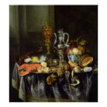 Still Life with Fruit and Shellfish Poster