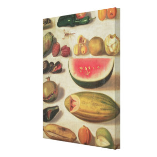 Still Life with Fruit and Toad Canvas Print