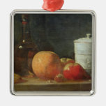 Still Life with Fruit and Wine Bottle Christmas Ornament