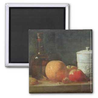 Still Life with Fruit and Wine Bottle Magnet