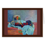 Still Life With Fruit Basket And Knife By Gauguin Greeting Card