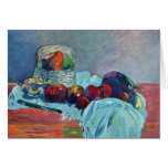Still Life With Fruit Basket And Knife By Gauguin Card