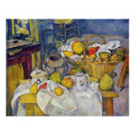 Still Life with Fruit Basket by Paul Cezanne Poster