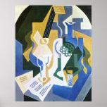 Still Life with Fruit bowl and mandolin -Juan Gris Poster