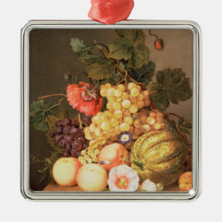 Still life with fruit christmas ornament