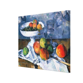 Still Life with Fruit Dish Canvas Print
