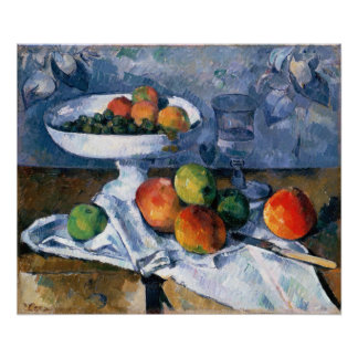 Still Life with Fruit Dish Poster