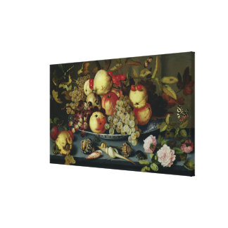 Still Life with Fruit, Flowers and Seafood Canvas Prints