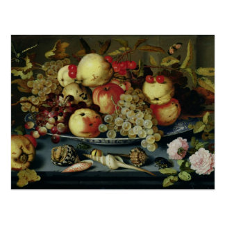 Still Life with Fruit, Flowers and Seafood Postcard