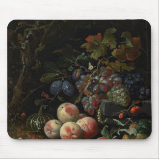 Still Life with Fruit, Foliage and Insects, c.1669 Mouse Mat
