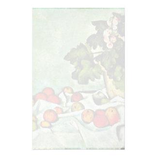 Still Life With Fruit Geraniums Stock Custom Stationery
