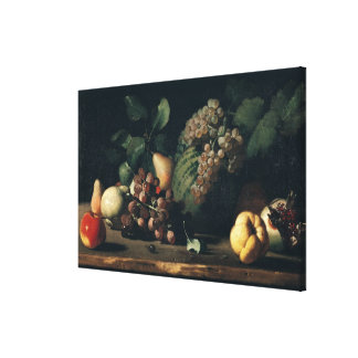 Still Life with Grapes and Pomegranate Canvas Print