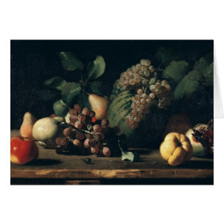 Still Life with Grapes and Pomegranate Card
