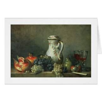 Still Life with Grapes and Pomegranates, 1763 (oil Card