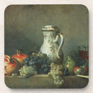 Still Life with Grapes and Pomegranates, 1763 (oil Drink Coasters