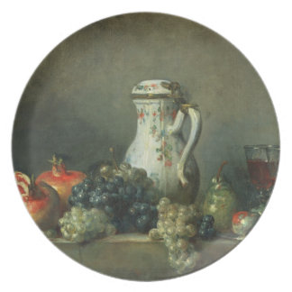 Still Life with Grapes and Pomegranates, 1763 (oil Plate