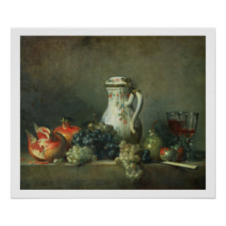 Still Life with Grapes and Pomegranates, 1763 (oil Poster