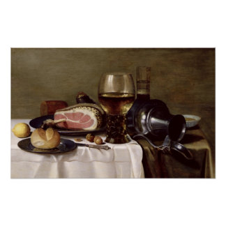 Still Life with Ham Poster