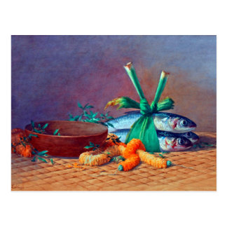 Still Life with Ilima Lei, Calabash and Moi Postcard