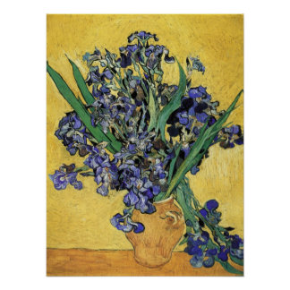 Still Life with Iris by Vincent van Gogh Poster
