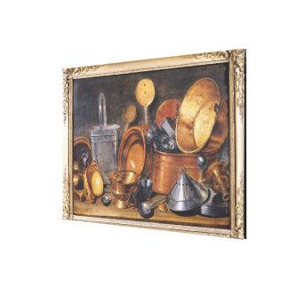 Still Life with Kitchen Utensils Canvas Print