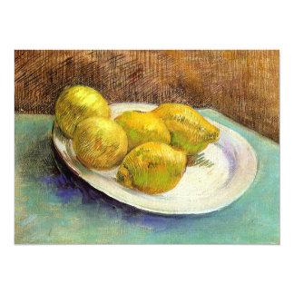 Still Life with Lemons on a Plate 14 Cm X 19 Cm Invitation Card