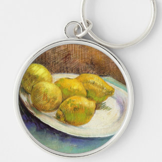 Still Life with Lemons on a Plate Keychains