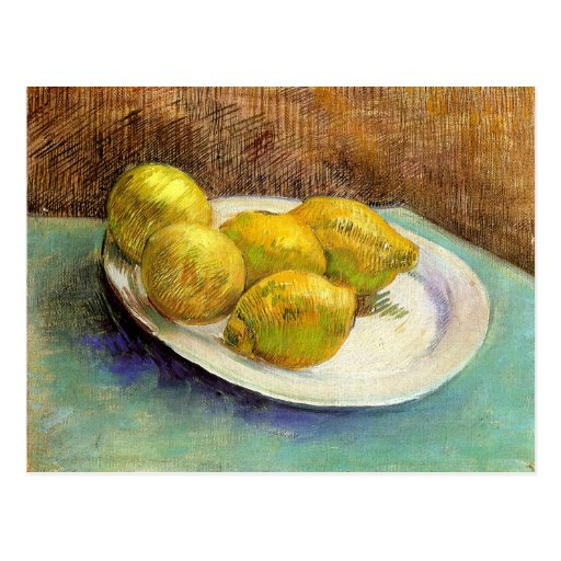 Still Life with Lemons on a Plate Post Card