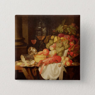 Still Life with Lobster 15 Cm Square Badge