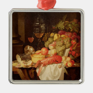 Still Life with Lobster Silver-Colored Square Decoration