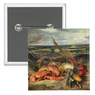 Still Life with Lobsters, 1826-27 15 Cm Square Badge