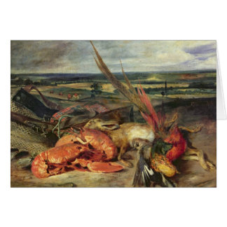 Still Life with Lobsters, 1826-27 Greeting Card