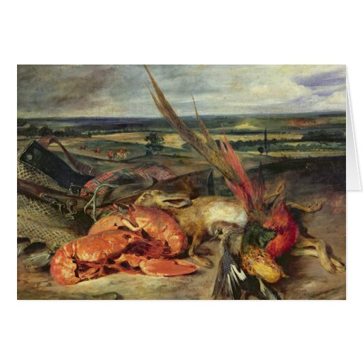 Still Life with Lobsters, 1826-27 Greeting Cards