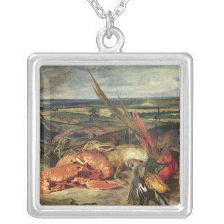 Still Life with Lobsters, 1826-27 Silver Plated Necklace