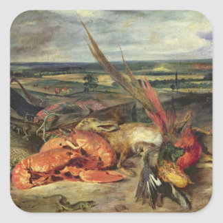 Still Life with Lobsters, 1826-27 Square Sticker