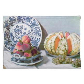 Still Life with Melon, 1872 Claude Monet Placemat