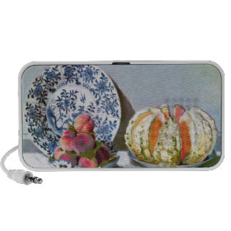 Still Life with Melon 1872 Claude Monet Portable Speakers