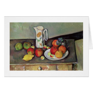 Still life with milk jug and fruit, c.1886-90 (oil greeting card