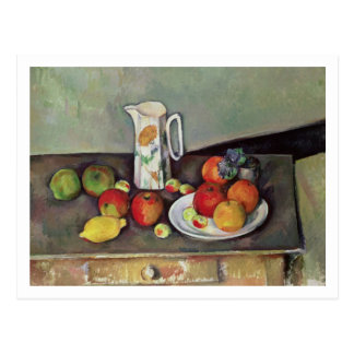 Still life with milk jug and fruit, c.1886-90 (oil postcard