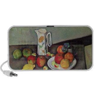 Still life with milk jug and fruit c 1886-90 oil iPhone speaker
